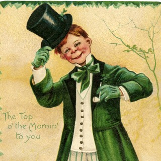 Vintage Redhead Irishman Image