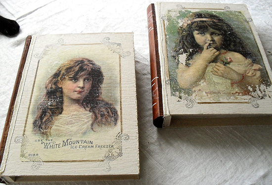 DIY Decoupaged Book Boxes - Reader Featured Project