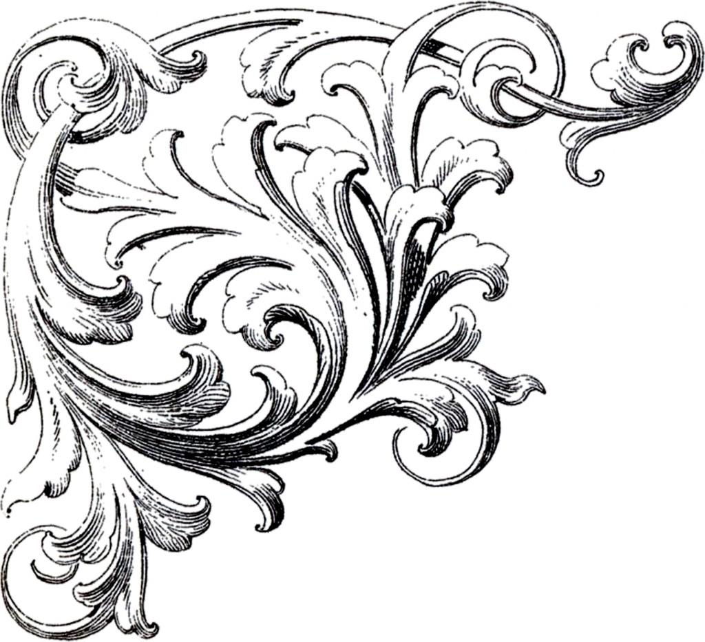 Scroll Drawing: Scrolls Corner Ornament Images