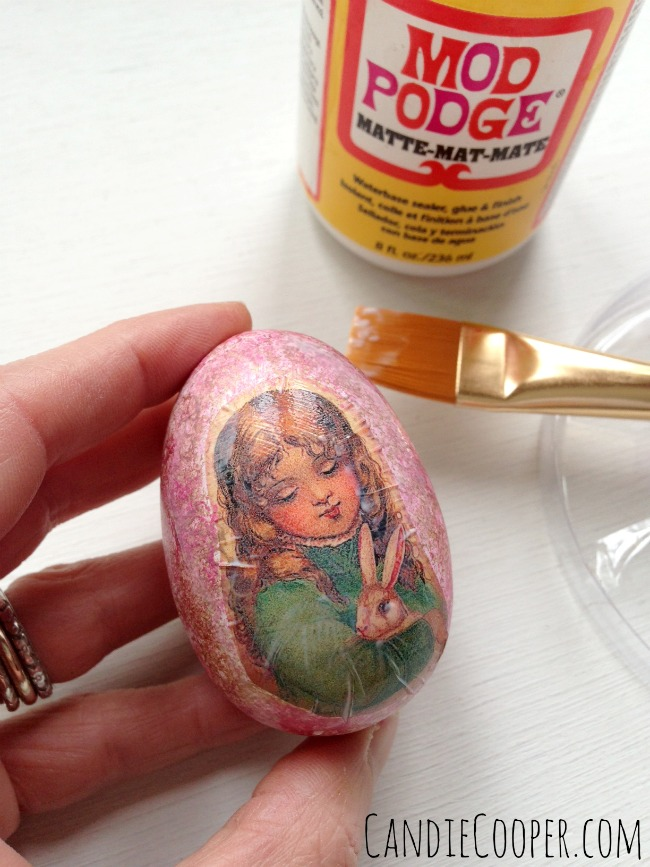 Seal the Egg with Mod Podge