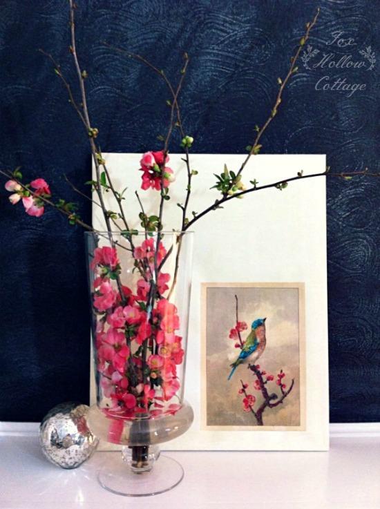 Simple-Spring-Mantel-diy-decor-simple-art-free-blooms