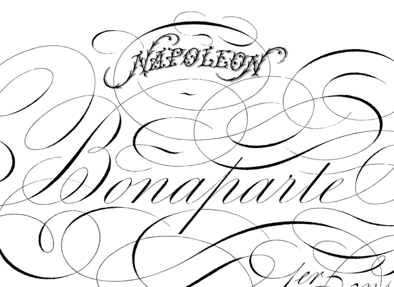 Spencerian Script Napoleon Pen Flourishing The
