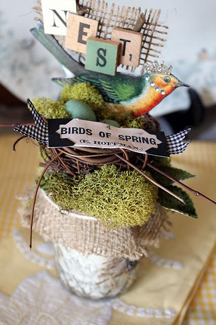 Spring Bird Decor