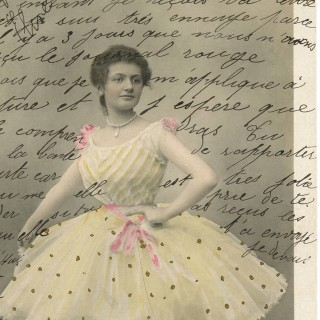 Vintage Ballerina Ephemera – Handwriting!