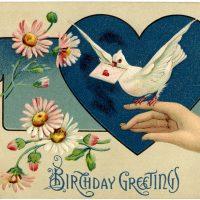 Vintage Birthday Illustration