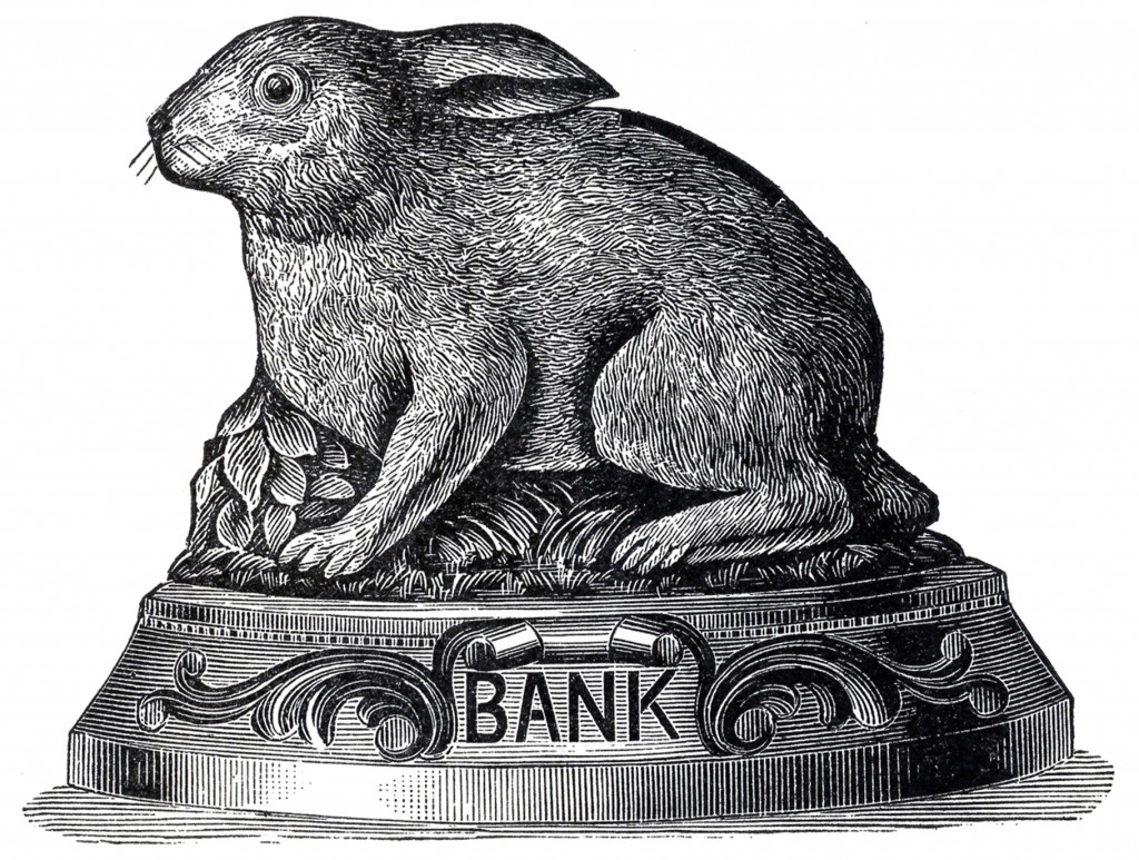 Vintage Bunny Bank Image