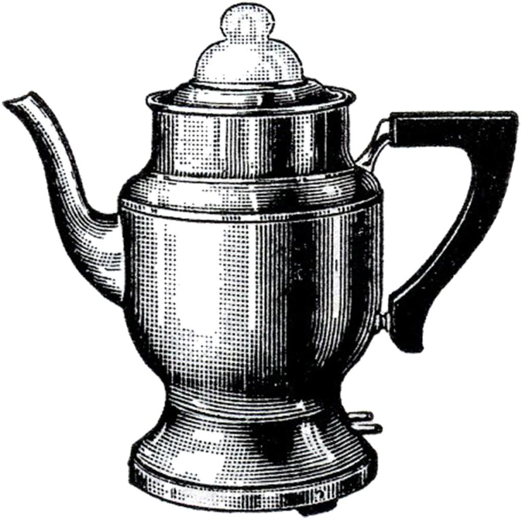 Vintage Coffee Pot Image - The Graphics Fairy