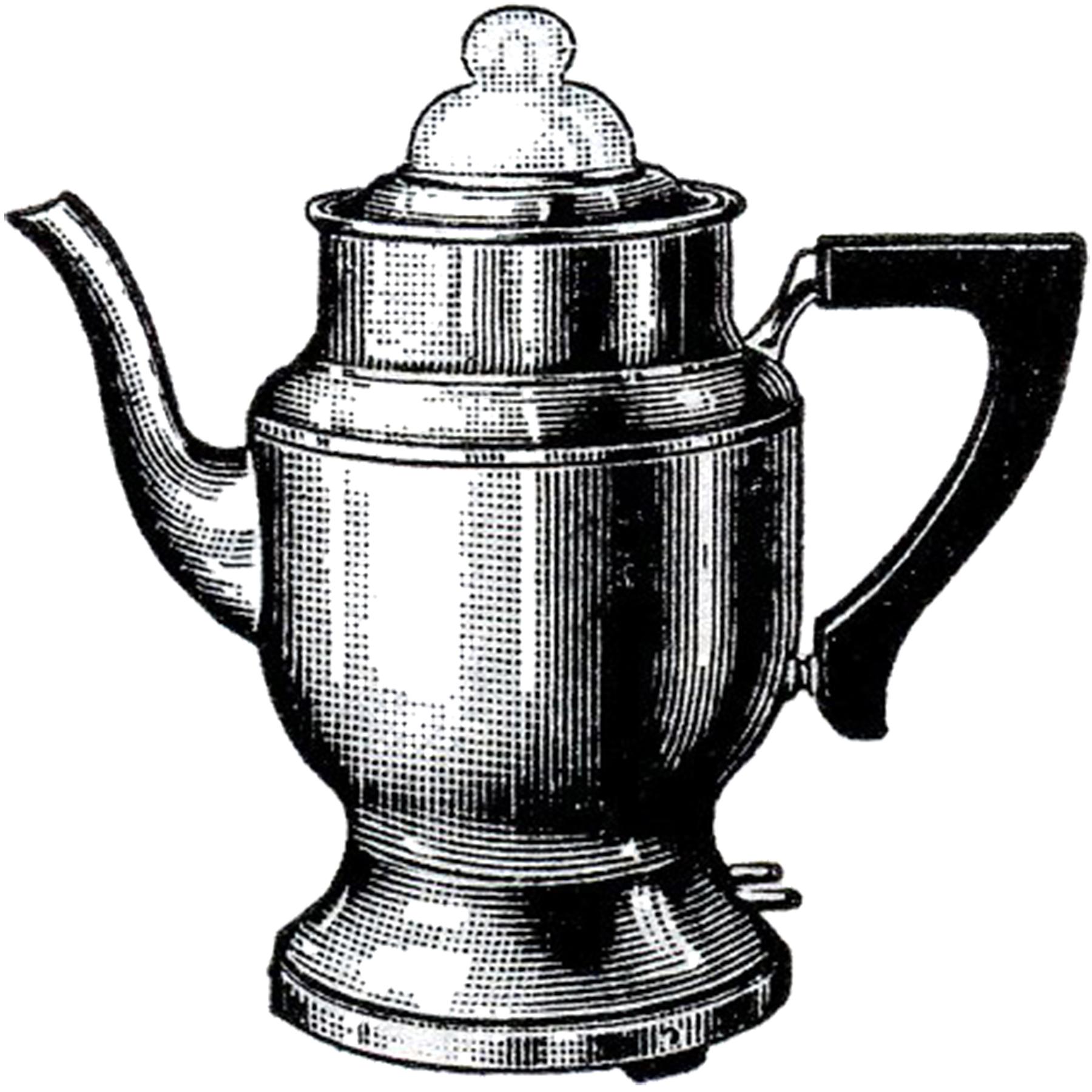 Pot Clip Art ~ Vintage coffee pot image the graphics fairy