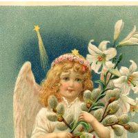 Vintage Easter Angel Image