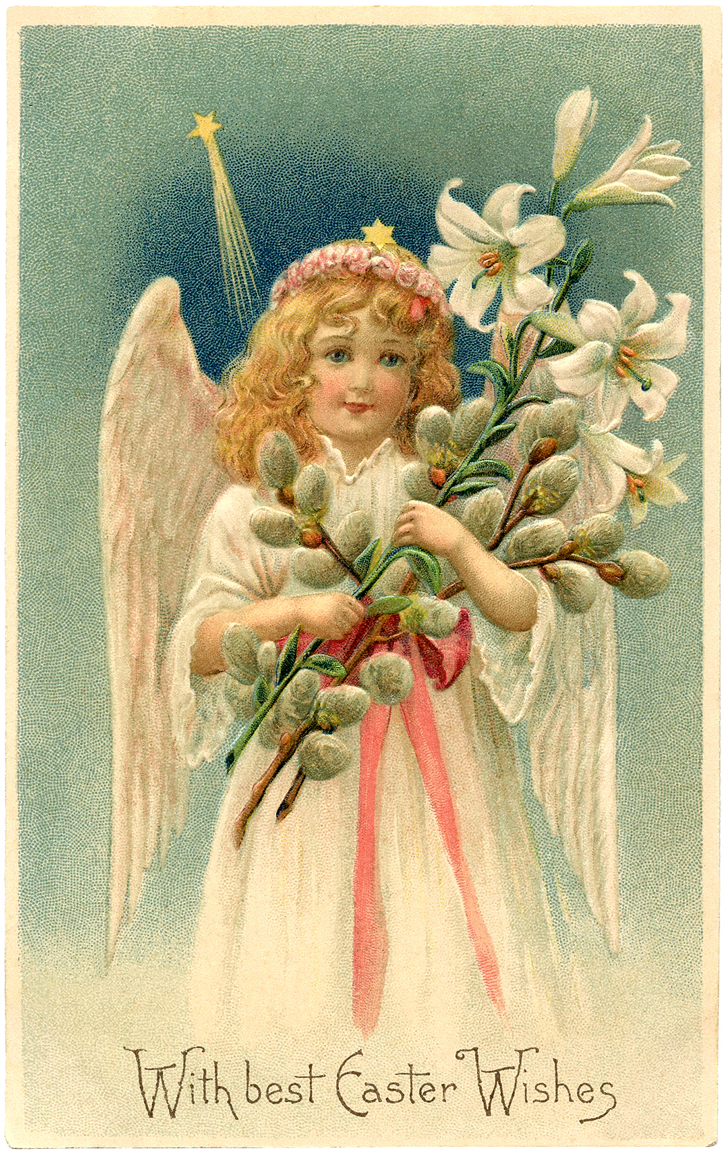 vintage easter angel image the graphics fairy. Black Bedroom Furniture Sets. Home Design Ideas