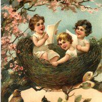 Vintage Easter Nest Picture