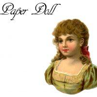 Vintage Paper Doll Girl Printable