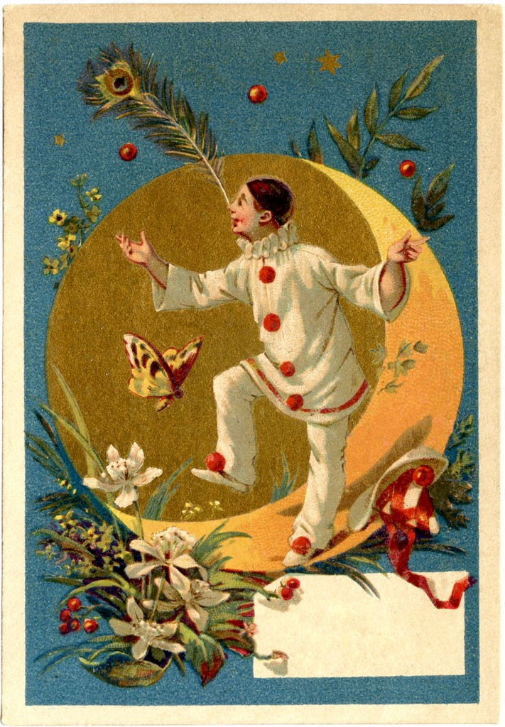Vintage Pierrot Clown Image