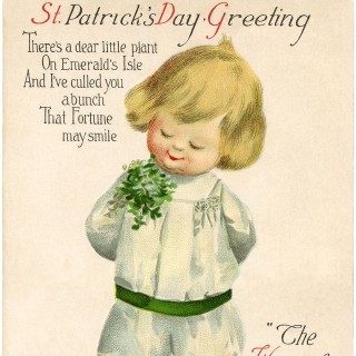Vintage St Patrick's Day Picture – Cutest Child!