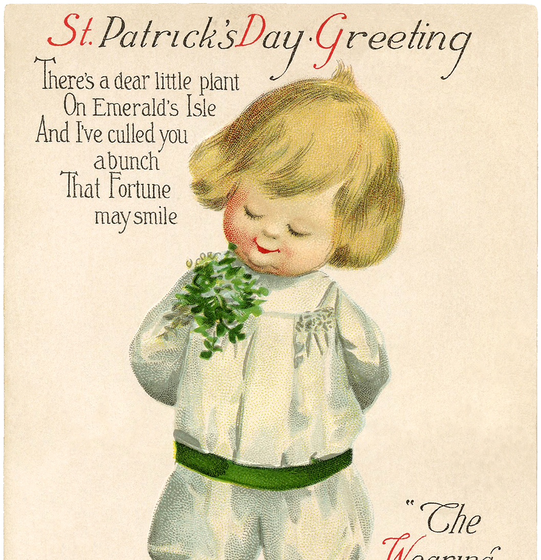 Vintage St Patrick S Day Picture Cutest Child The