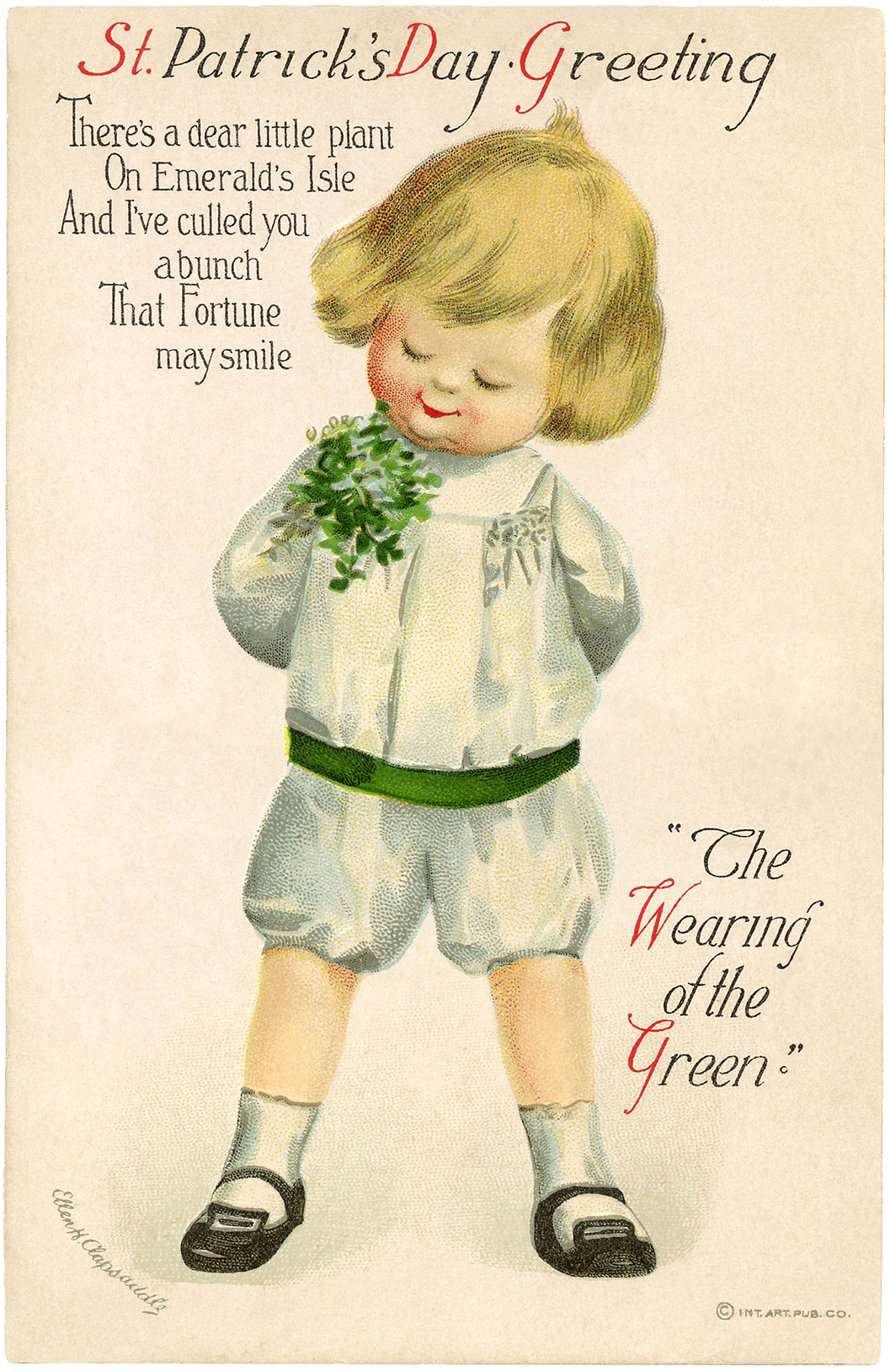 vintage st patrick u0027s day picture cutest child the graphics fairy