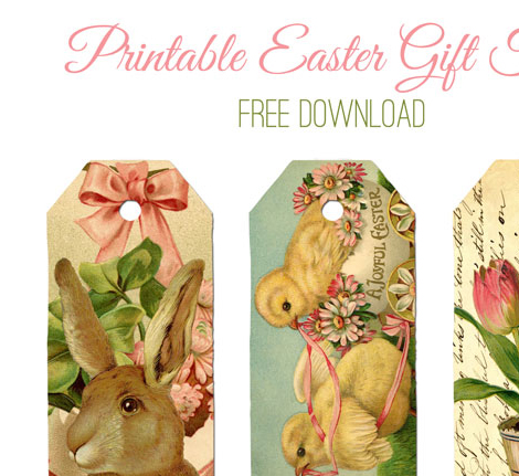 Printable easter gift tags the graphics fairy negle Image collections