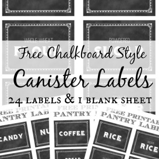Printable Canister Labels