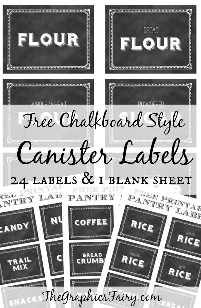 Printable Canister Labels - The Graphics Fairy
