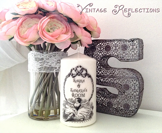 Vintage Ballerina Sign and Candle - Reader Featured Project