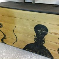 DIY Toy Chest with Octopus Graphic - Reader Featured Project