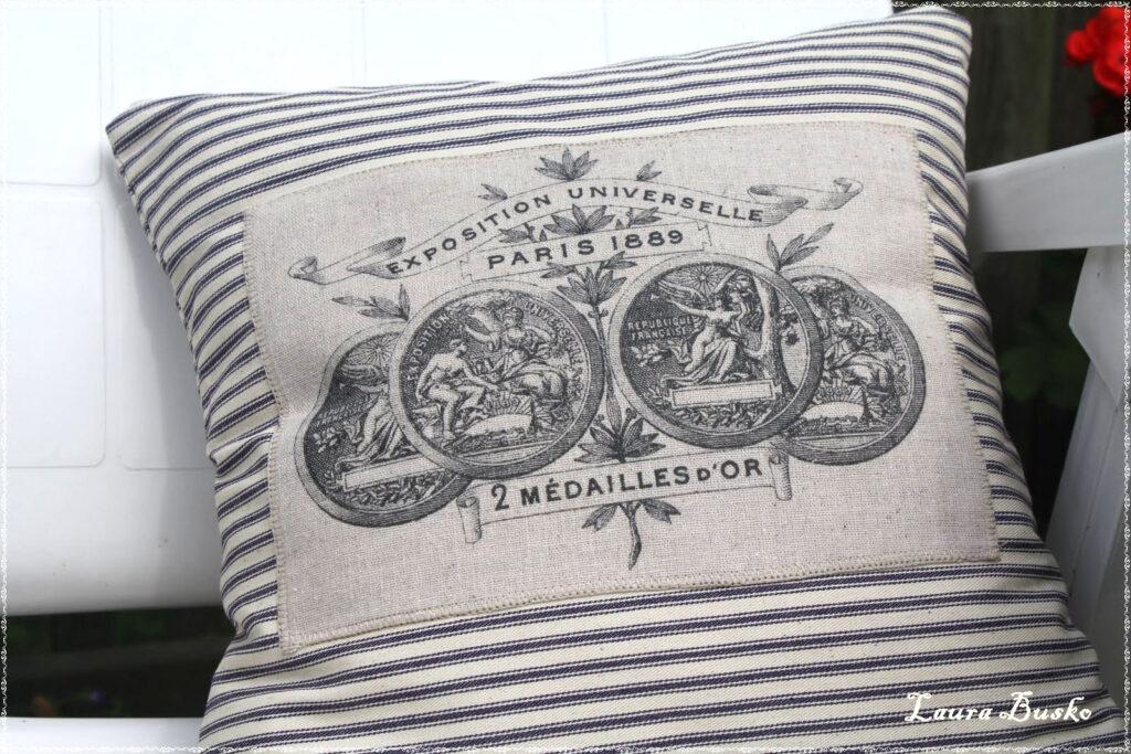 Paris Pillow Ticking