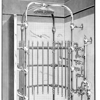 Curious Antique Shower Image!