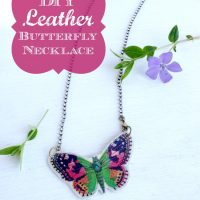 DIY Leather Butterfly Necklace