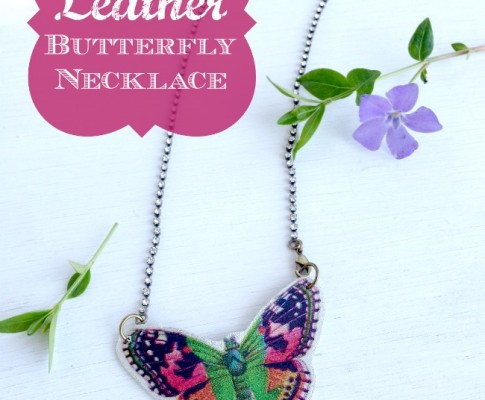 DIY Leather Butterfly Necklace Tutorial!