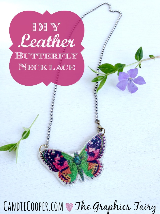 DIY Leather Butterfly Necklace by Candie Cooper