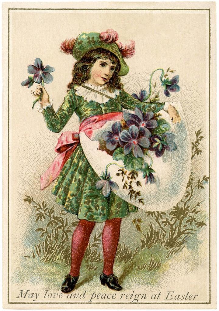 Easter Violets Egg