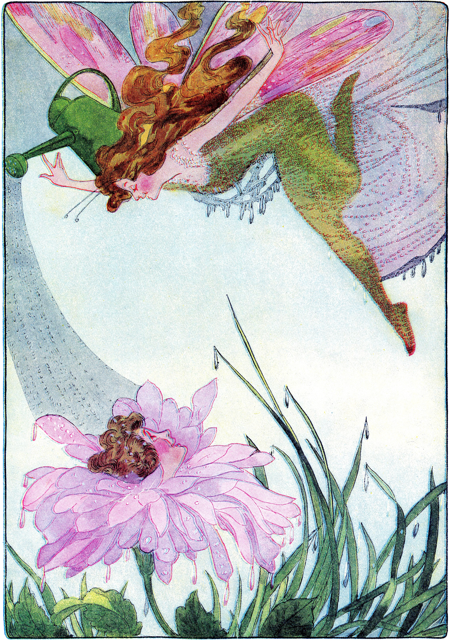 Vintage Garden Fairy Image The Graphics Fairy