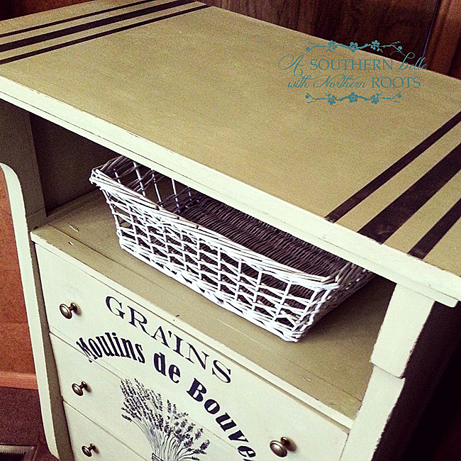 Grain Sack Dresser DIY