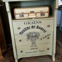 Grain Sack Dresser DIY