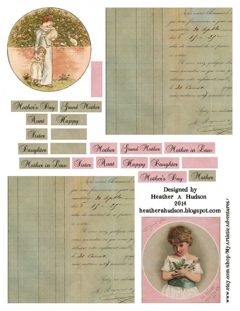Mother's Day Collage Sheet