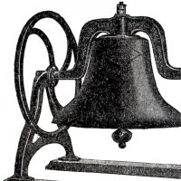 Vintage Iron School Bell Image