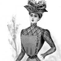 Ladies Fashion Visiting Costume