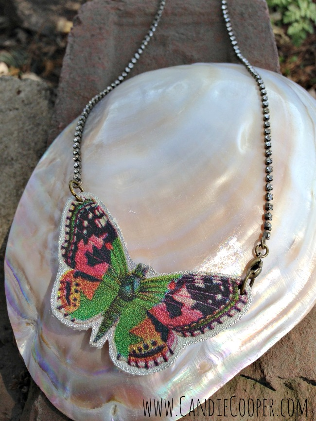 Make A Leather Butterfly Necklace 3