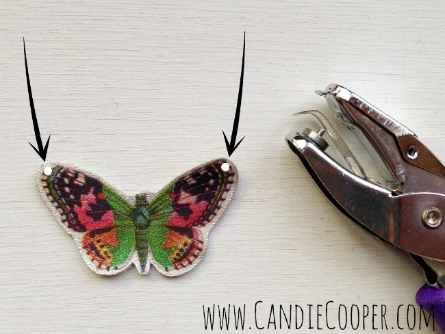 Make a Leather Butterfly Necklace 12