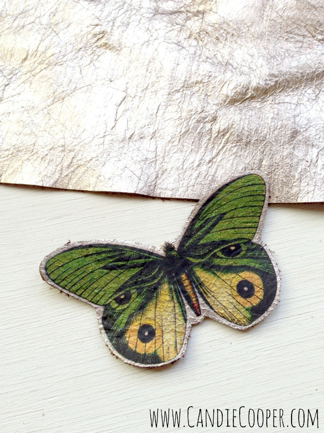 Make a Leather Butterfly Necklace 4
