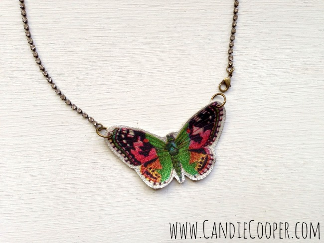 Make a leather butterfly 10