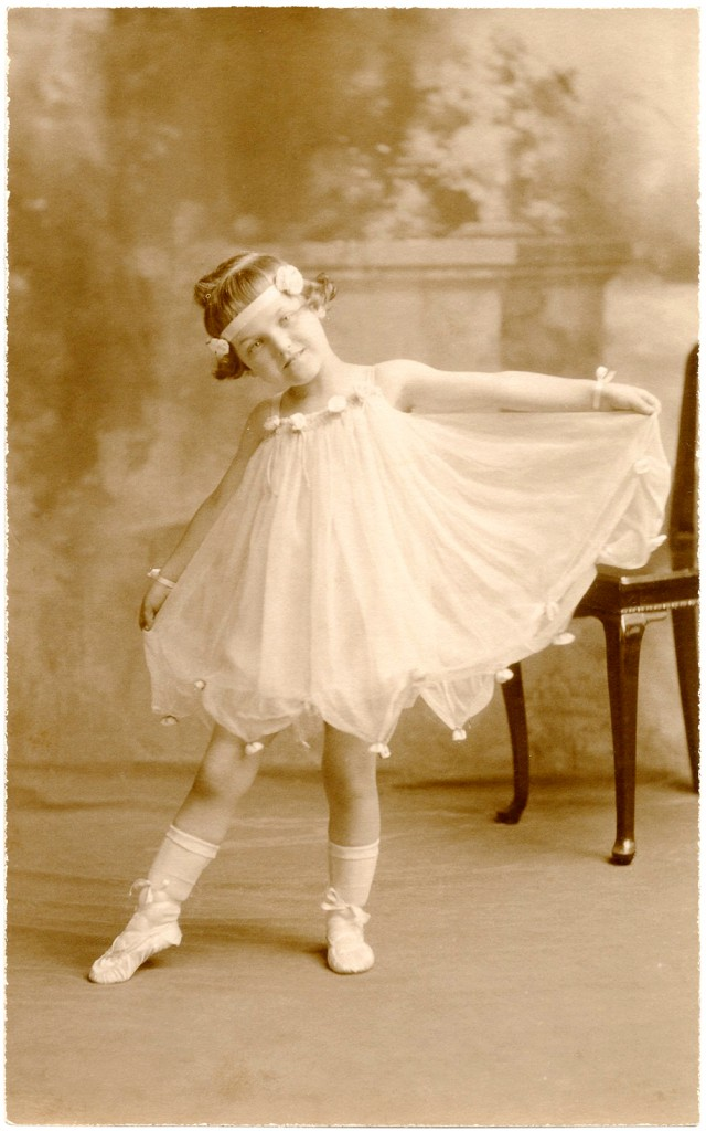 Old Photo Ballerina Child