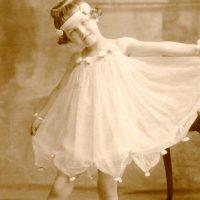 Old Photo Ballerina Child