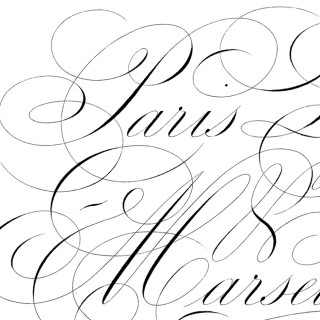 Gorgeous Paris Script Furniture Transfer!