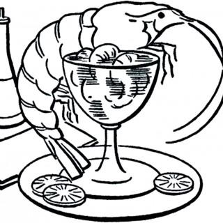 Retro Shrimp Cocktail Image