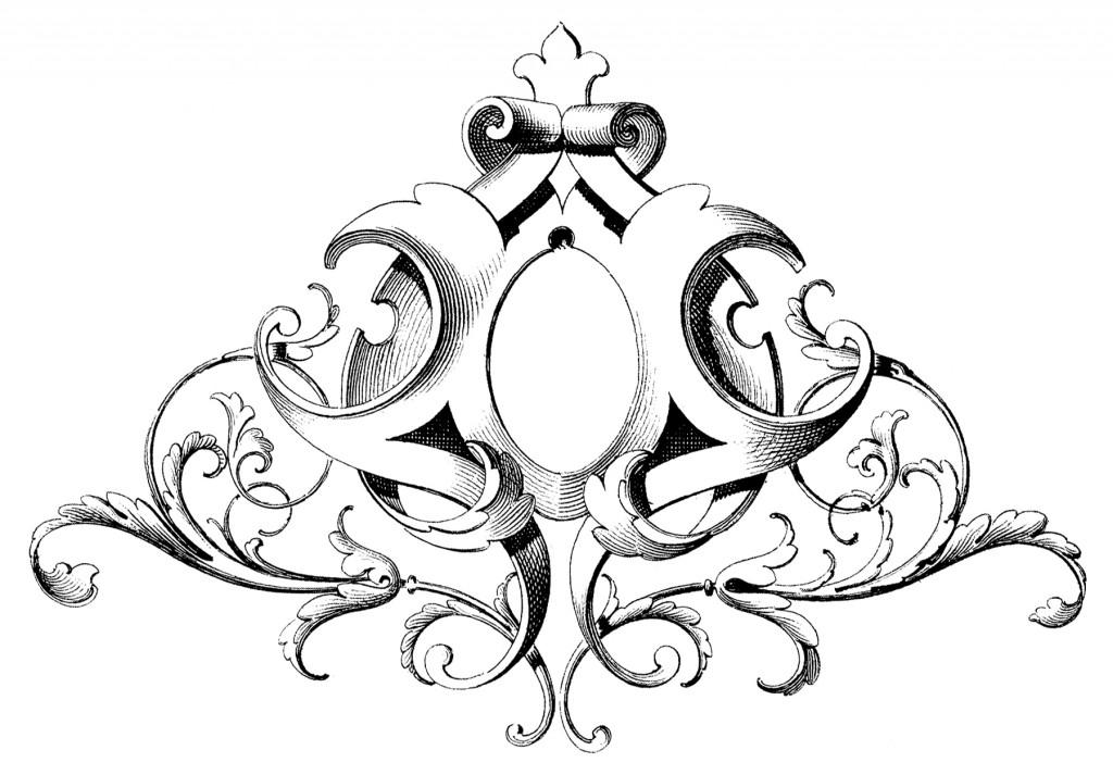 Scrolls Frame Ornament