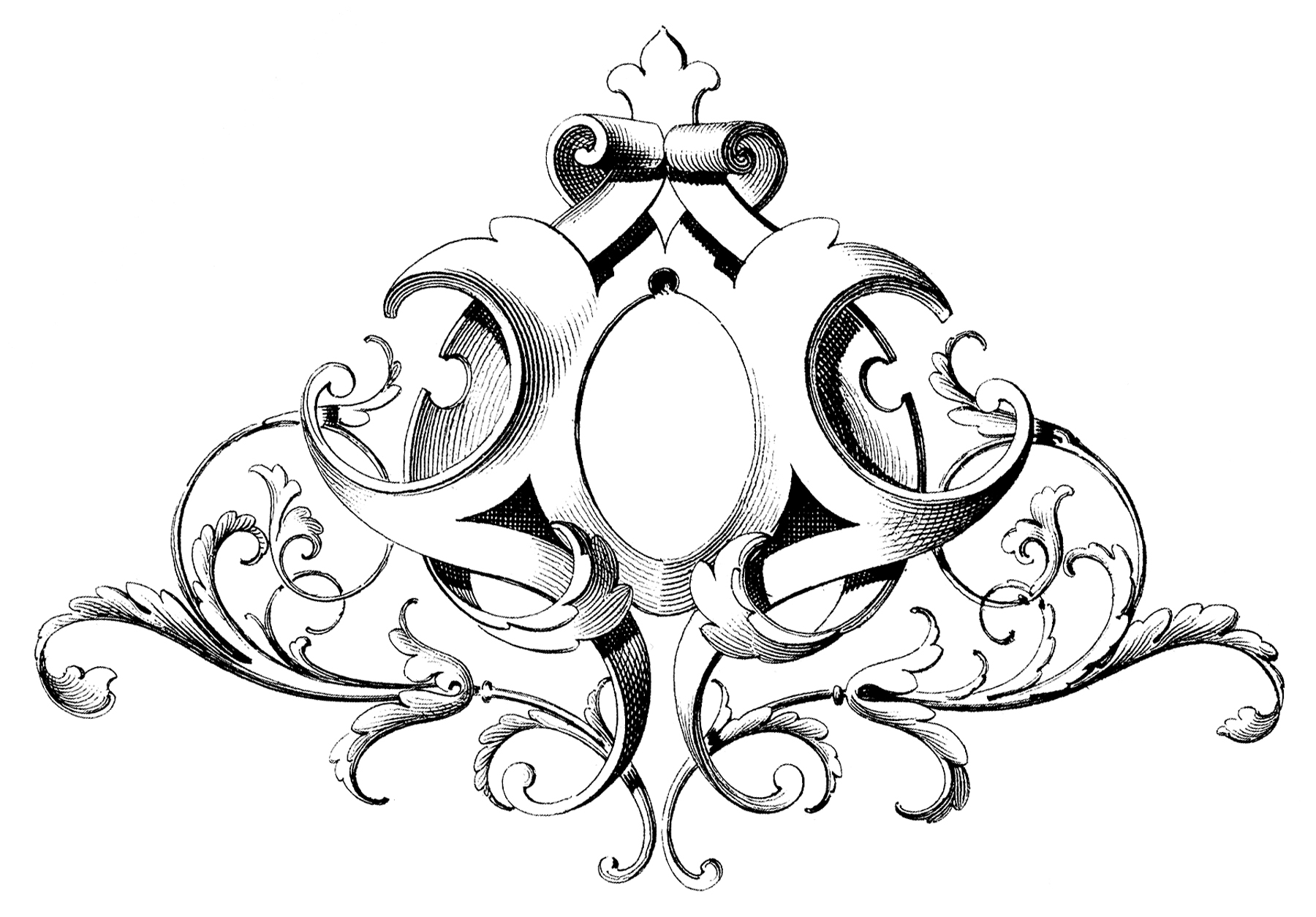 Fabulous Scrolls Frame Ornament! - The Graphics Fairy