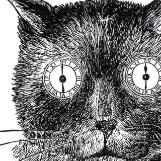 Vintage Steampunk Cat Image