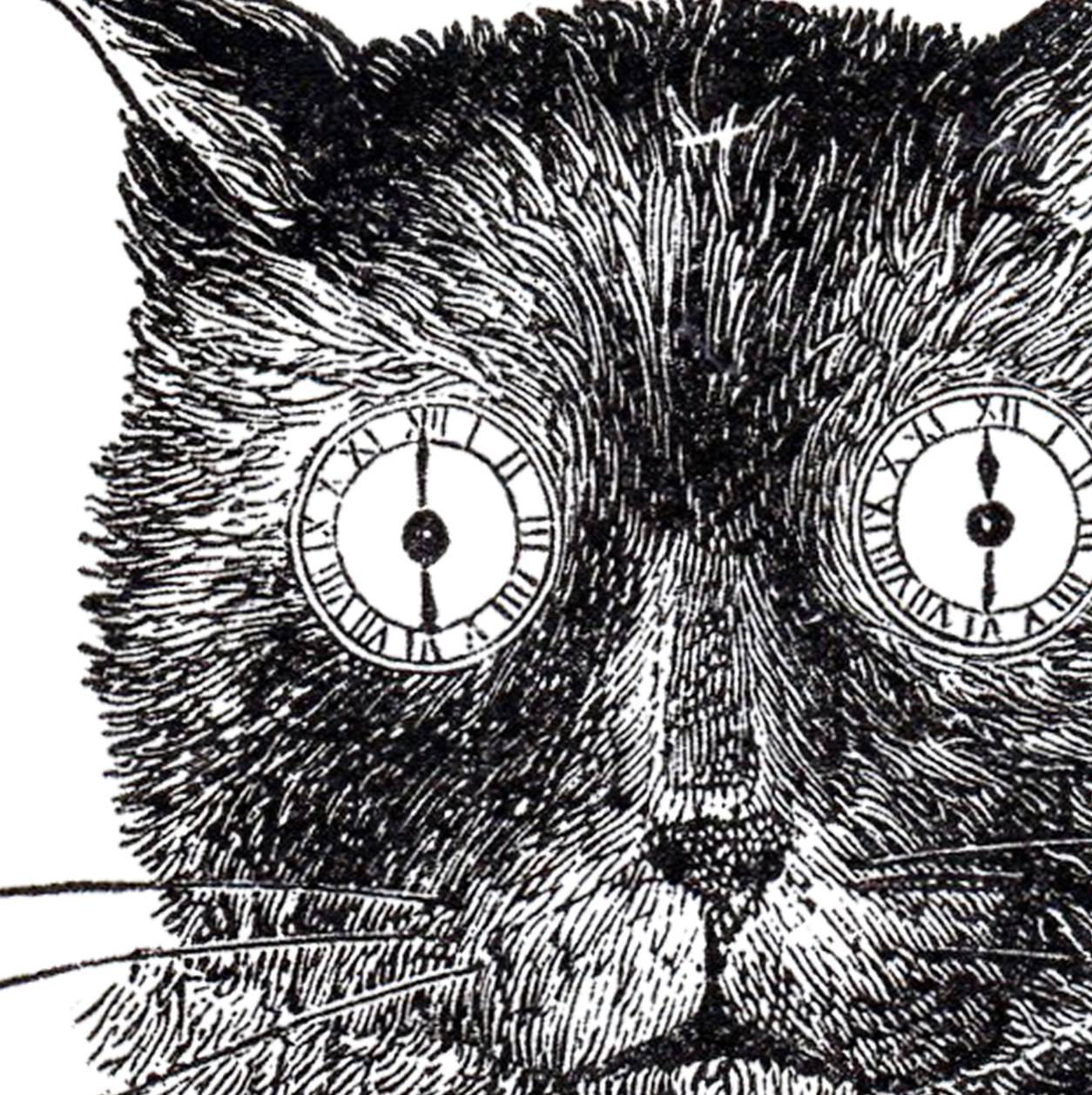 vintage steampunk cat image - odd