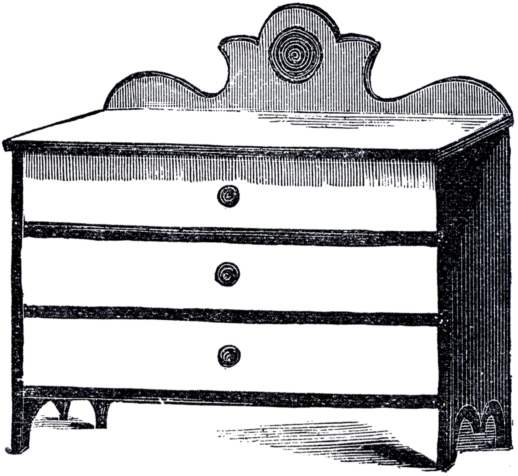 bedroom clipart black and white. vintage cottage dresser image bedroom clipart black and white d